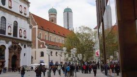Munich Bayern, domkyrkafrauenkirche, gammal stadmonument arkivfoton