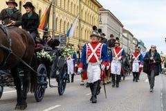 MUNICH BAYERN, TYSKLAND - MARS 11, 2018: par i en hästwa Royaltyfri Bild