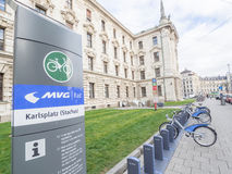 Munich bicycle rental Stock Image