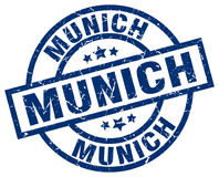 Munich blue round stamp. Munich blue round grunge stamp Royalty Free Stock Photo
