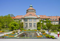 Munich, Botanical Garden central building in springtime Royalty Free Stock Photography