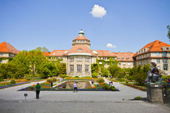 Munich, Botanical Garden central building in springtime Stock Photos