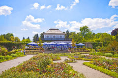 Munich, Botanical Garden, restaurant on springtime Royalty Free Stock Photography