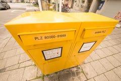 Munich brevlådor Arkivfoton