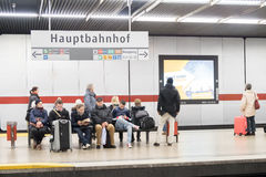 Munich central station subway Royalty Free Stock Photos