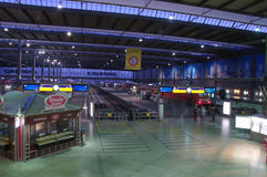 Munich central train station at the blue hour Royalty Free Stock Images