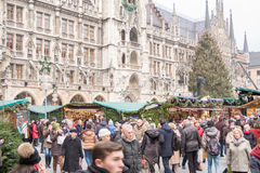 Munich christmas fair Stock Photo