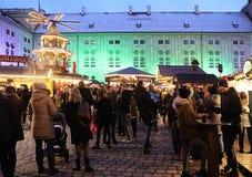 Munich, Christmas market at Residenz Kaiserhof Stock Photos