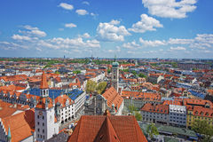 Munich city center panoramic view with spires Stock Images