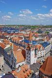Munich city center panoramic view Royalty Free Stock Images