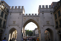 Munich city gate Stock Image