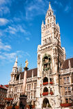Munich city hall. Famous old munich city hall - germany Royalty Free Stock Photos