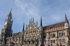 Munich City Hall Royalty Free Stock Photography