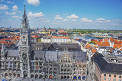 Munich city hall aerial view Royalty Free Stock Photography