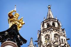 Munich city hall Royalty Free Stock Image