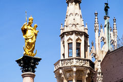 Munich city hall Royalty Free Stock Photography