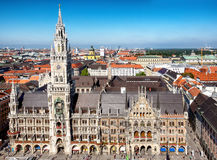 Munich city hall Royalty Free Stock Image