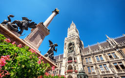 Munich city hall Royalty Free Stock Photos