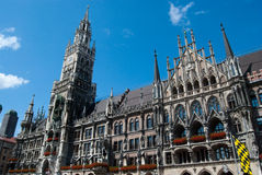 Munich city hall and Marienplatz Royalty Free Stock Image