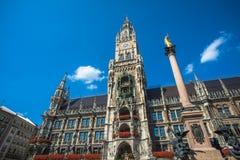 Munich city hall at Marienplatz, Bavaria, Germany Royalty Free Stock Photography