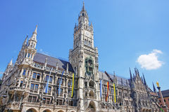 Munich city hall in summer Stock Photos