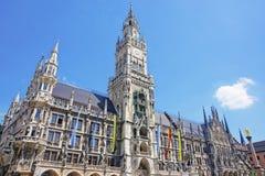 Munich city hall in summer Stock Photos