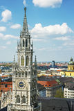 Munich city hall tower and center skyline Stock Image