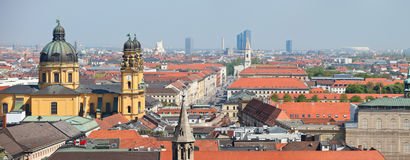 Munich city panorama Royalty Free Stock Photography