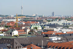Munich city skyline Stock Image