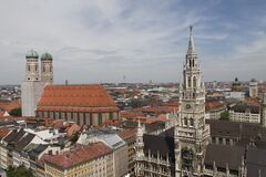 Munich cityscape, Germany Royalty Free Stock Photos