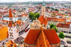 Munich cityscape view Royalty Free Stock Photo
