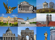 Munich collage Stock Image