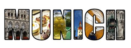 Munich collage on white Royalty Free Stock Image