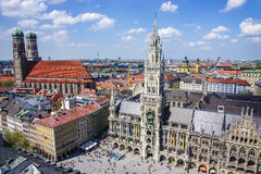 Munich cuty center skyline Royalty Free Stock Image