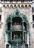 Munich, detail of the glockenspiel Royalty Free Stock Images