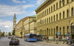 Munich downtown street, Germany Stock Photo