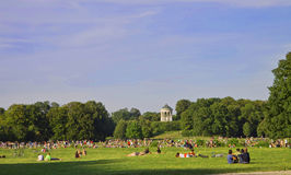 Munich , Englischer Garten on a summer day Stock Image