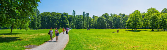 Munich English garden panoramic Stock Image