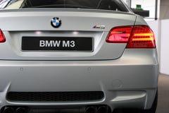 BMW M3 à la salle d'exposition image stock