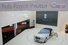 Rolls-Royce showroom Stock Photography