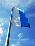Munich Flag. The flag of Munich on a blue sky Royalty Free Stock Images