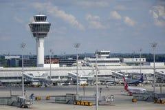 Munich flygplats, Bayern, Tyskland Arkivbilder