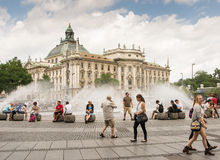 Munich Fountain Royalty Free Stock Images