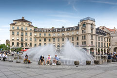 Munich Fountain Stock Photos