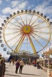 Munich, Frühlingsfest, la roue Photographie stock