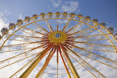 Munich, Frühlingsfest, the wheel. MUNICH - APRIL 21 2012. The wheel at Spring festival (Münchner Frühlingsfest) on Theresienwiese from April 20 to May 6 royalty free stock photo