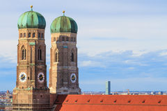 Munich Frauenkirche, Bayern, Germa Arkivfoto