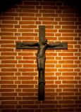 Munich Frauenkirche Crypt Frauenplatz. Detail of jesus crucified stock images