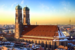 Munich Frauenkirche - dusk Stock Photo