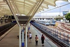 Munich-Froettmaning tunnelbanastation Royaltyfria Foton